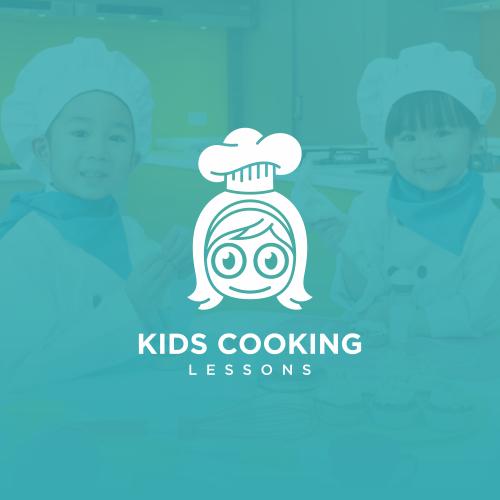 Kids Cooking Lessons Logo Design